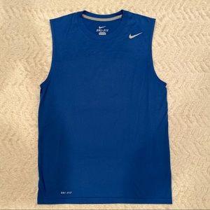 Nike Dri Fit Mens Training Sleeveless Tank RYLBlue